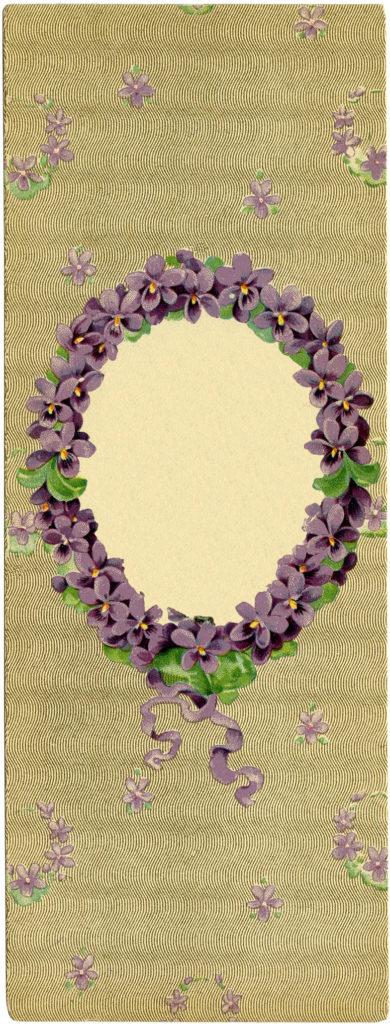 Vintage Lavender Wreath Frame Image