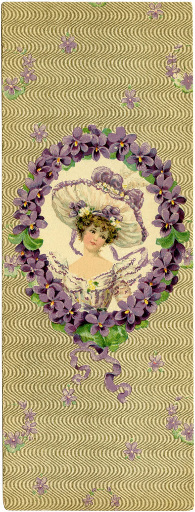 Vintage Lady Floral Hat Wreath Image