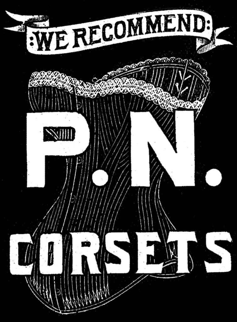 corset advertising typography image