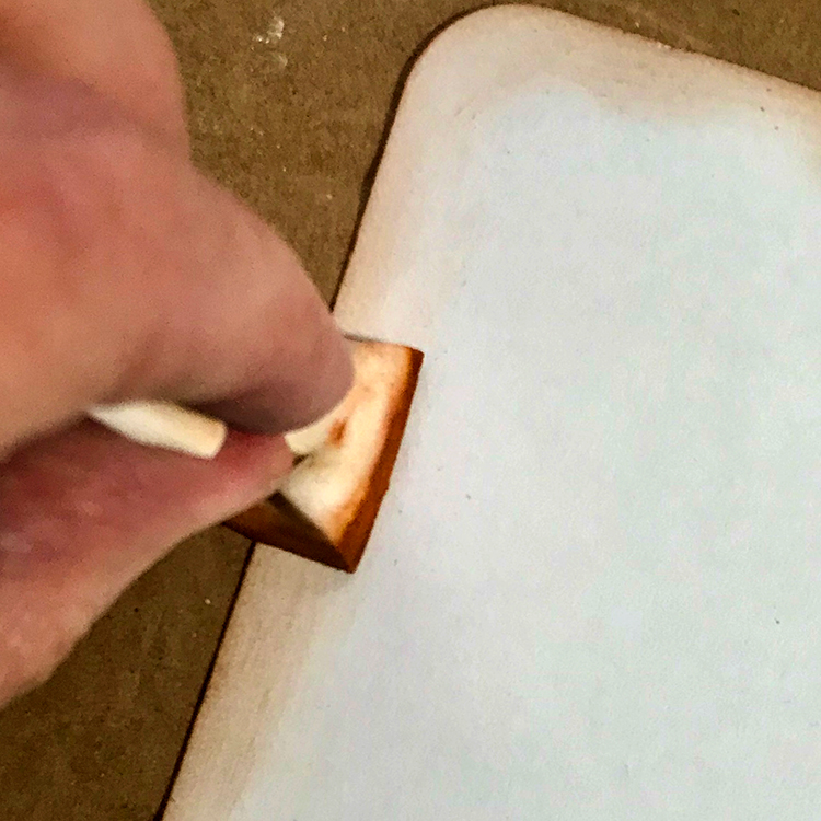 Makeup Sponge Rub on Surface of Tag