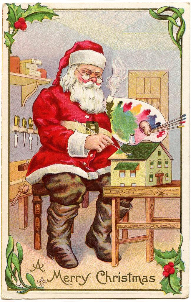 santa painting workshop image