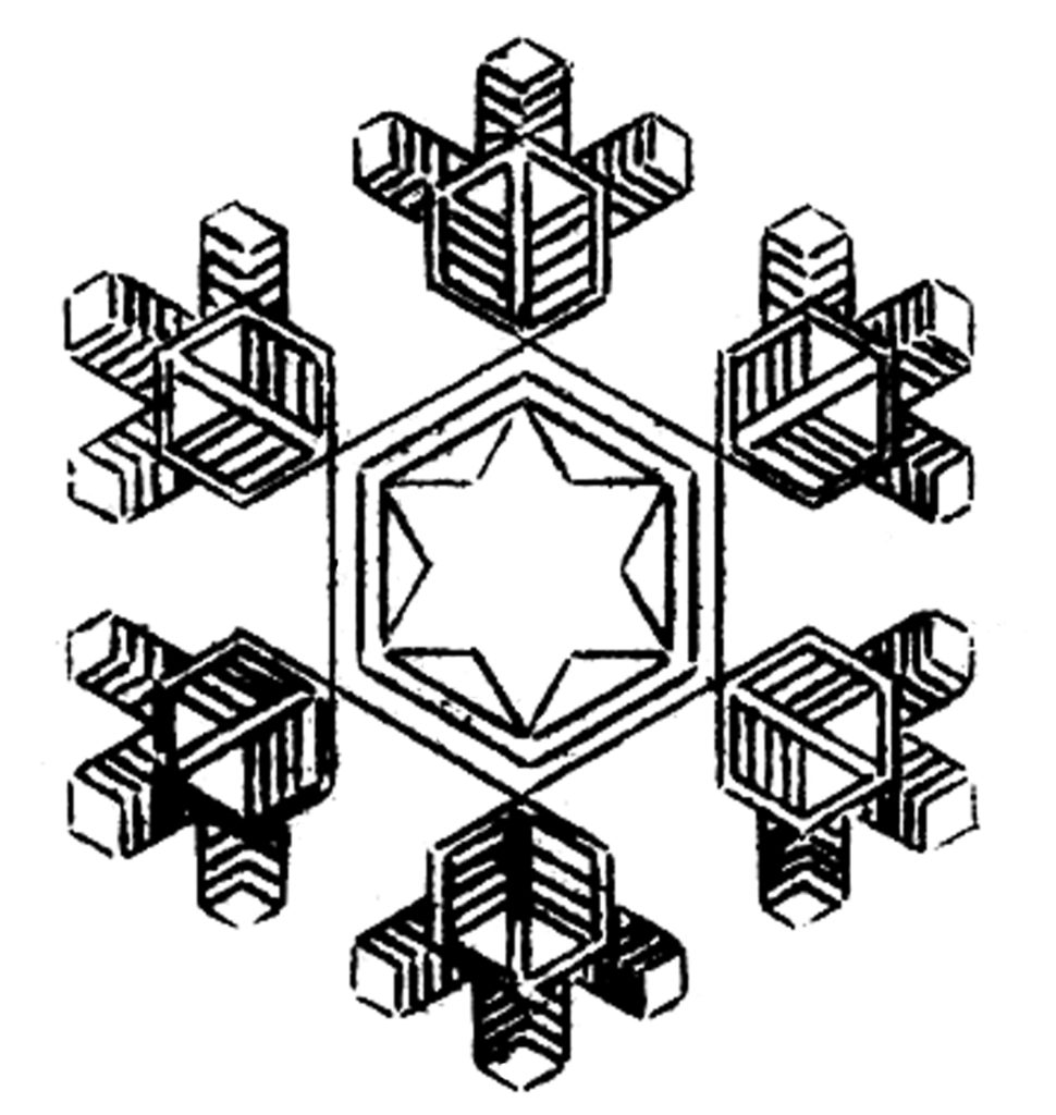 snowflake star center image