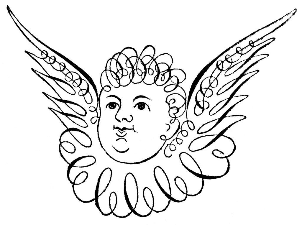spencerian cherub image