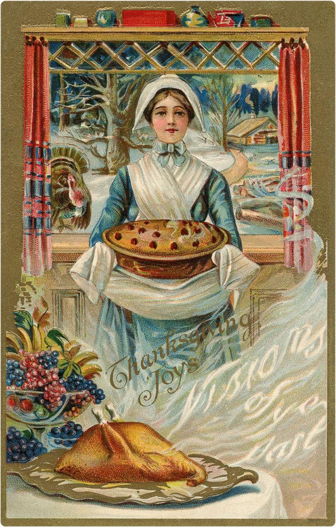 Thanksgiving Pilgrim Pie Image