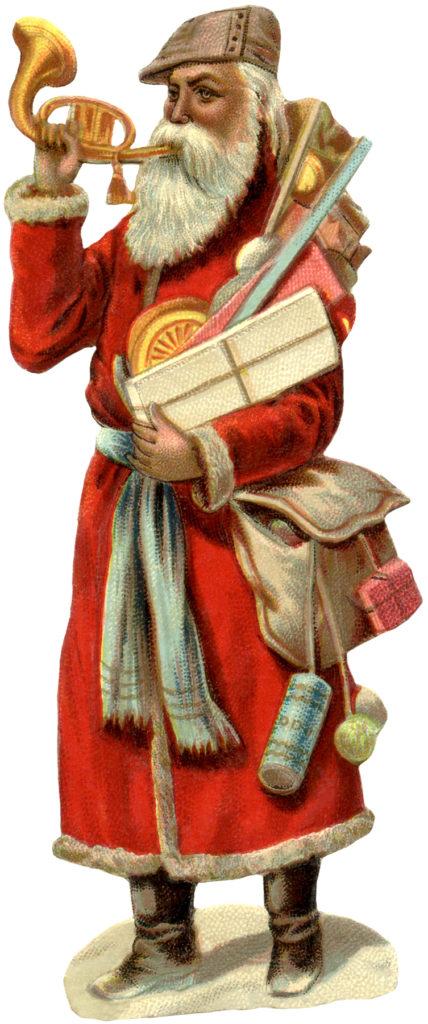 victorian santa vintage illustration