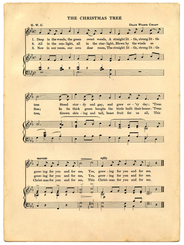 vintage Christmas Sheet Music Image