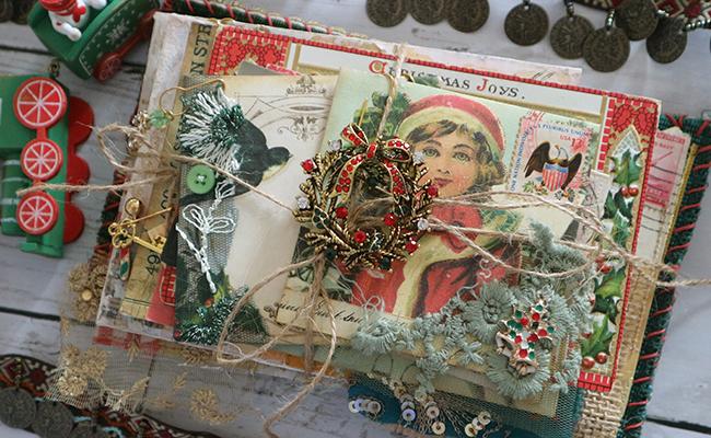 Sheena Luna Rozu Deconstructed Christmas Junk Journal Design Team