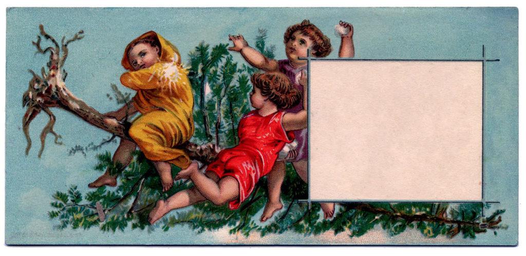 christmas tags vintage blank image