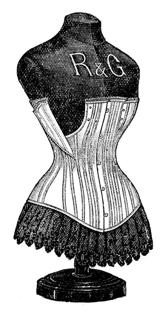 corset dressform vintage image