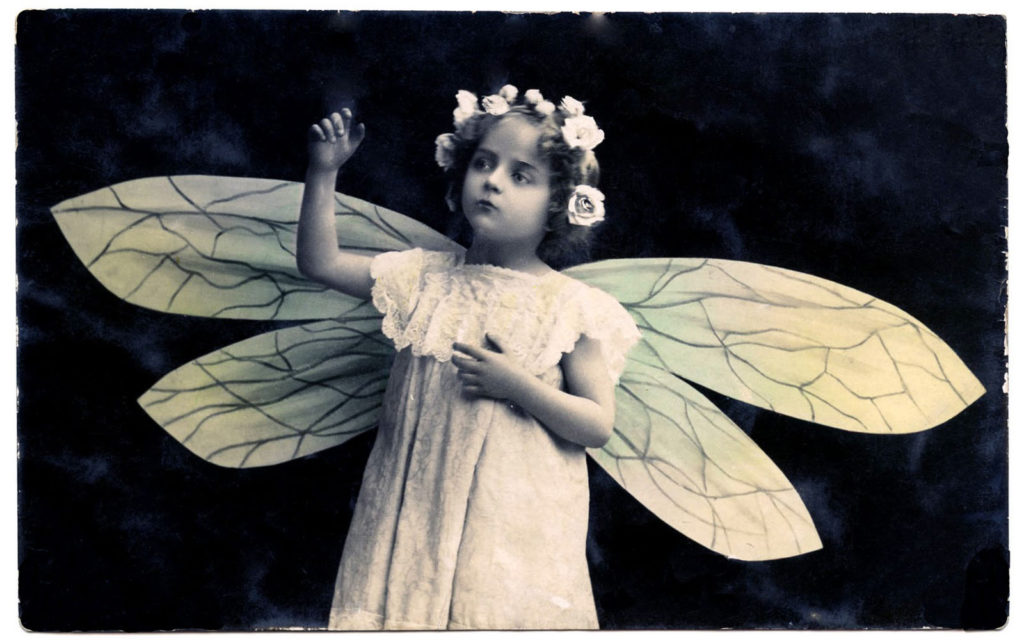 fairy costume girl antique phtoto image