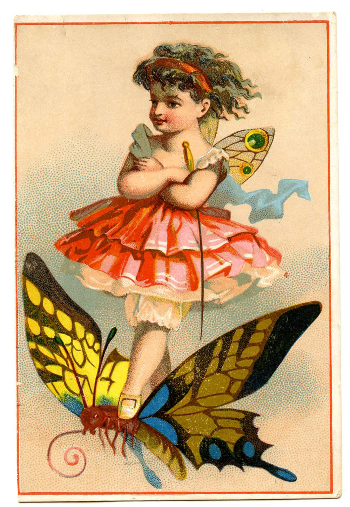 Fairy Butterfly Vintage Clipart