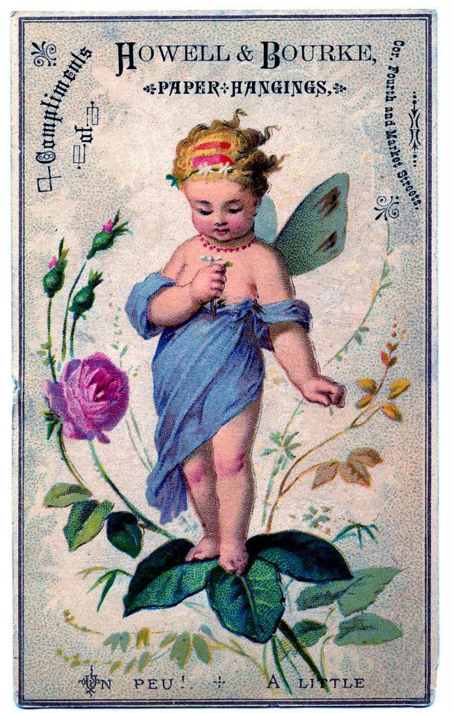 Fairy Flowers Vintage Image