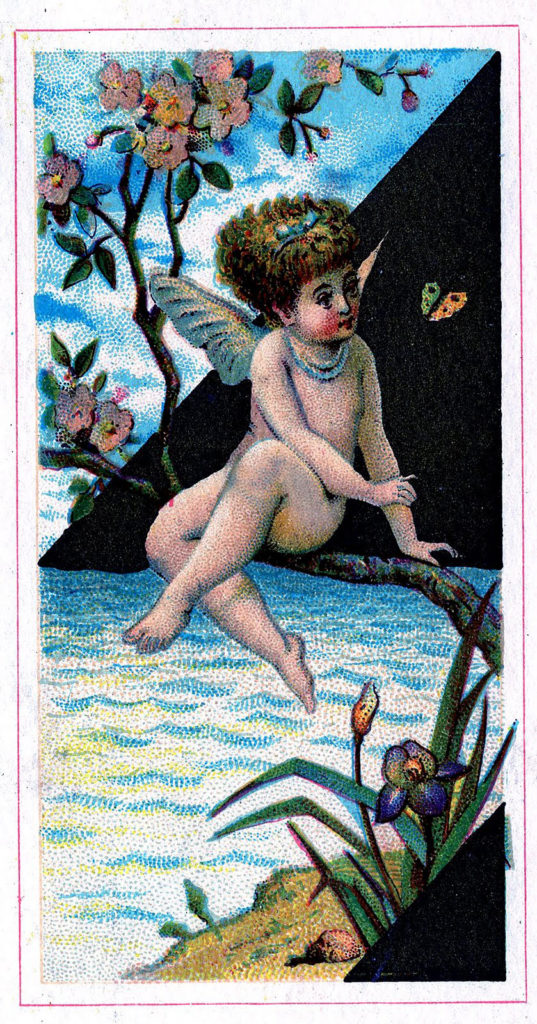 Fairy Trade Card Water Illustration