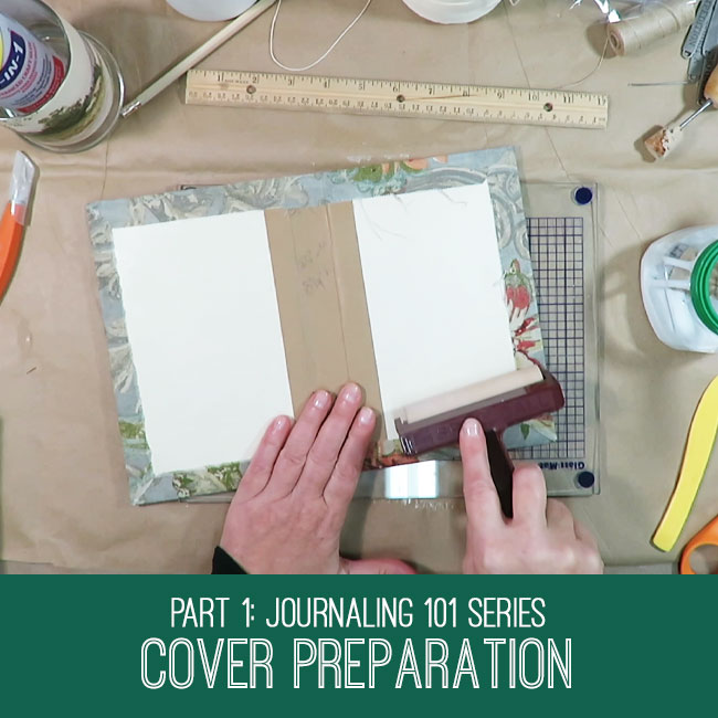 Journaling 101 Series Cover Preparation Tutorial