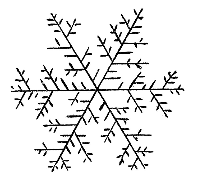 snowflake drawing image