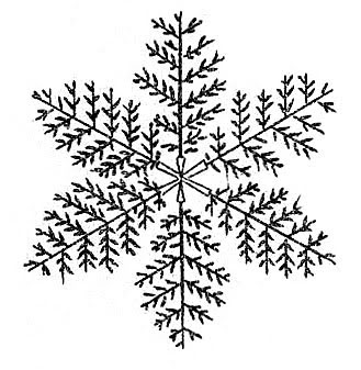hand drawn snowflake illustration