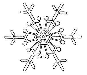 snowflake vintage image