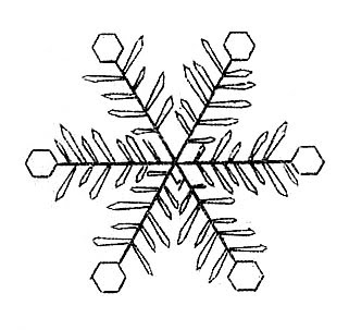 snowflake black white clipart