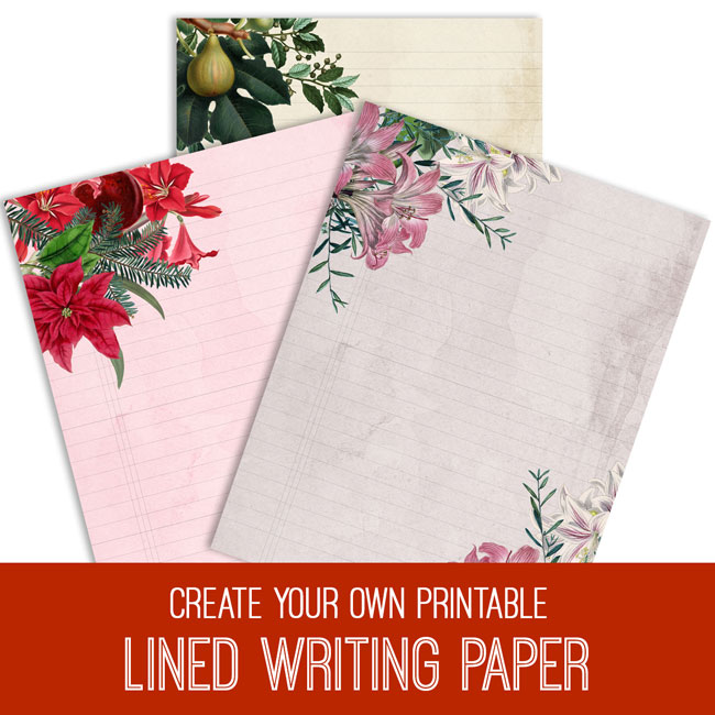 PSE Tutorial Create Your Own Printable Lined Writing Paper
