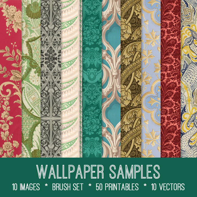 wallpaper samples ephemera vintage images