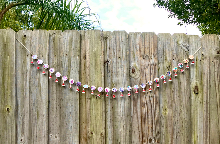Full Advent Calendar Garland Draped on Fence