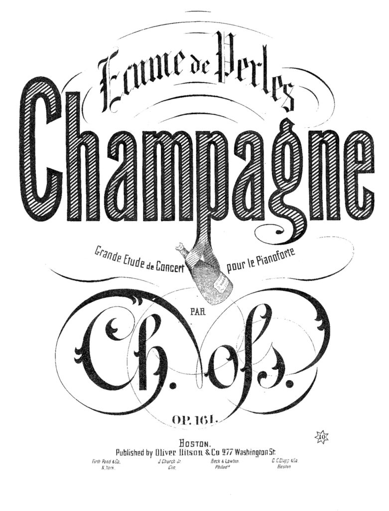 champagne typography new years image