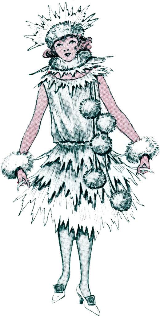 Christmas vintage costume fashion outfit image