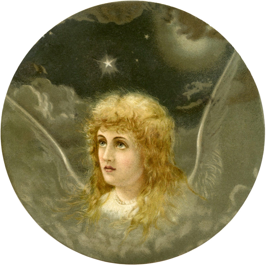Christmas angel wings stars clouds heaven images
