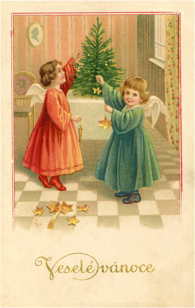 Christmas Image Angel Girls