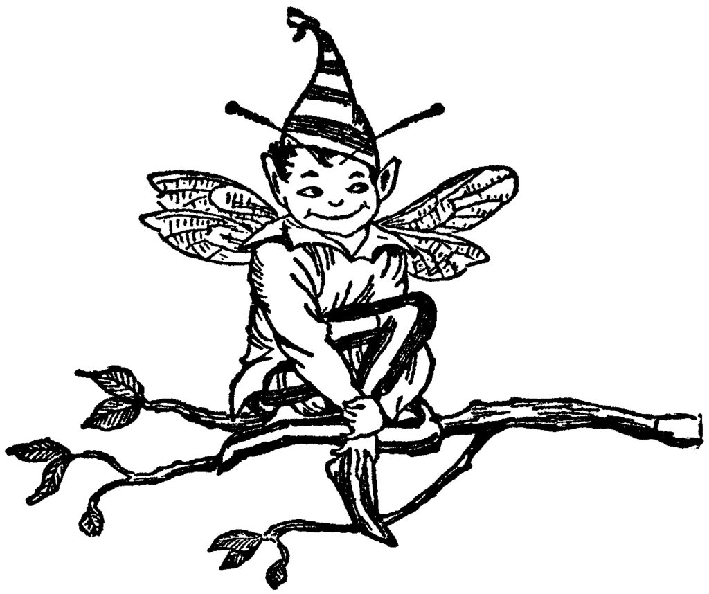 Fairy Boy in Tree Image