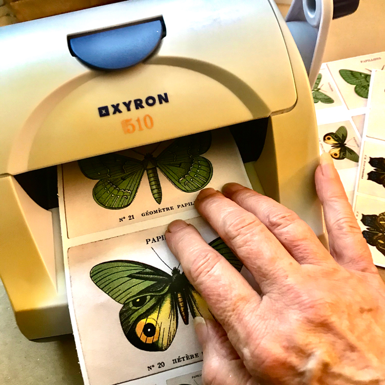 Insert Image into Xyron Sticker Machine
