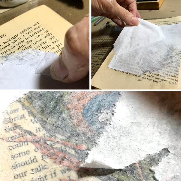 Removing Backing Paper from How to Transfer an Image onto Paper