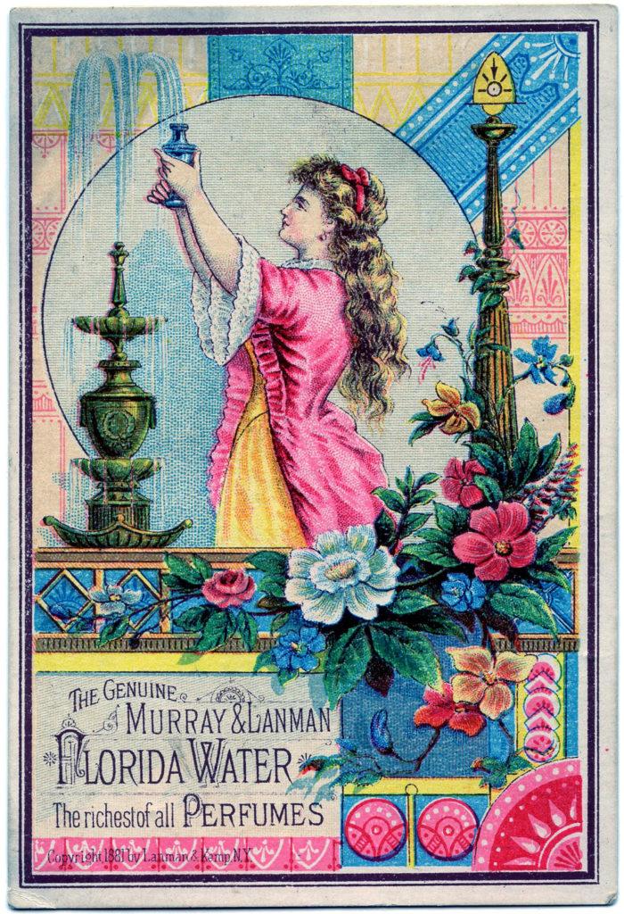 Florida water vintage perfume advertising clipart