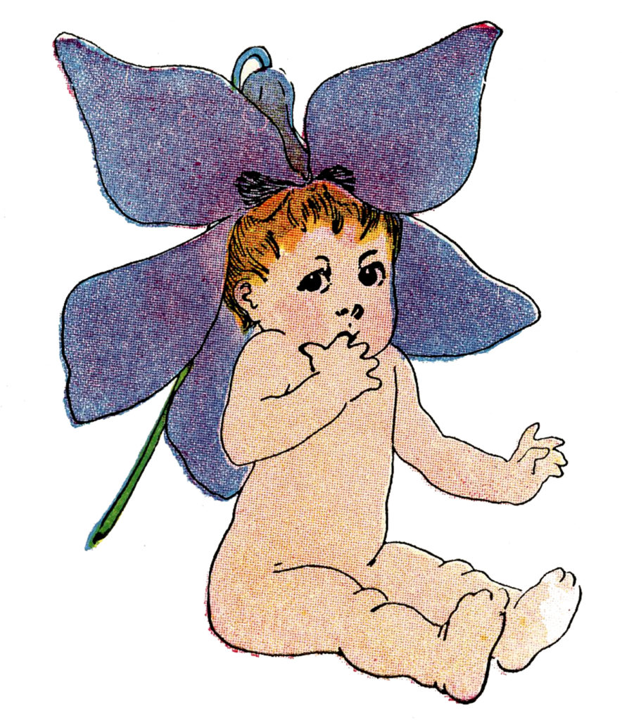 flower fairy baby girl image