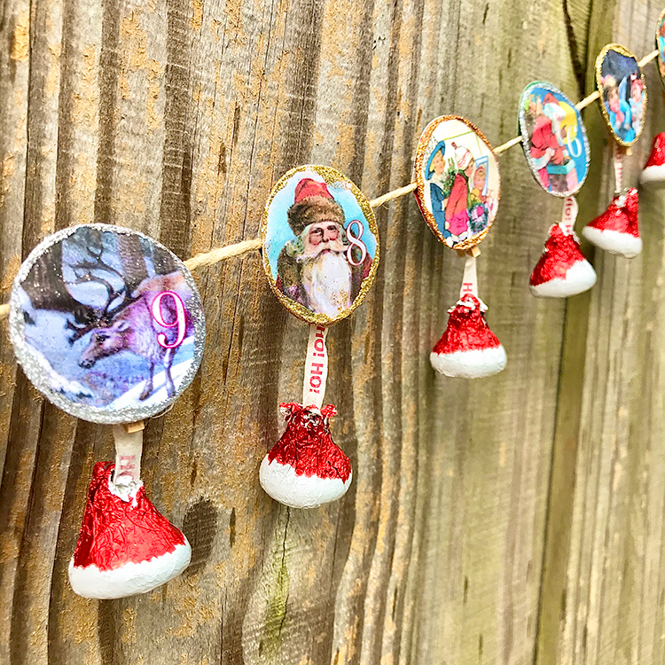DIY Advent Garland with Chocolate