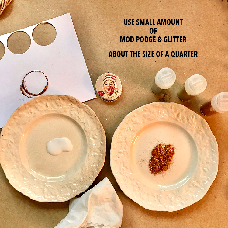 Glue and Glitter on Small Plates