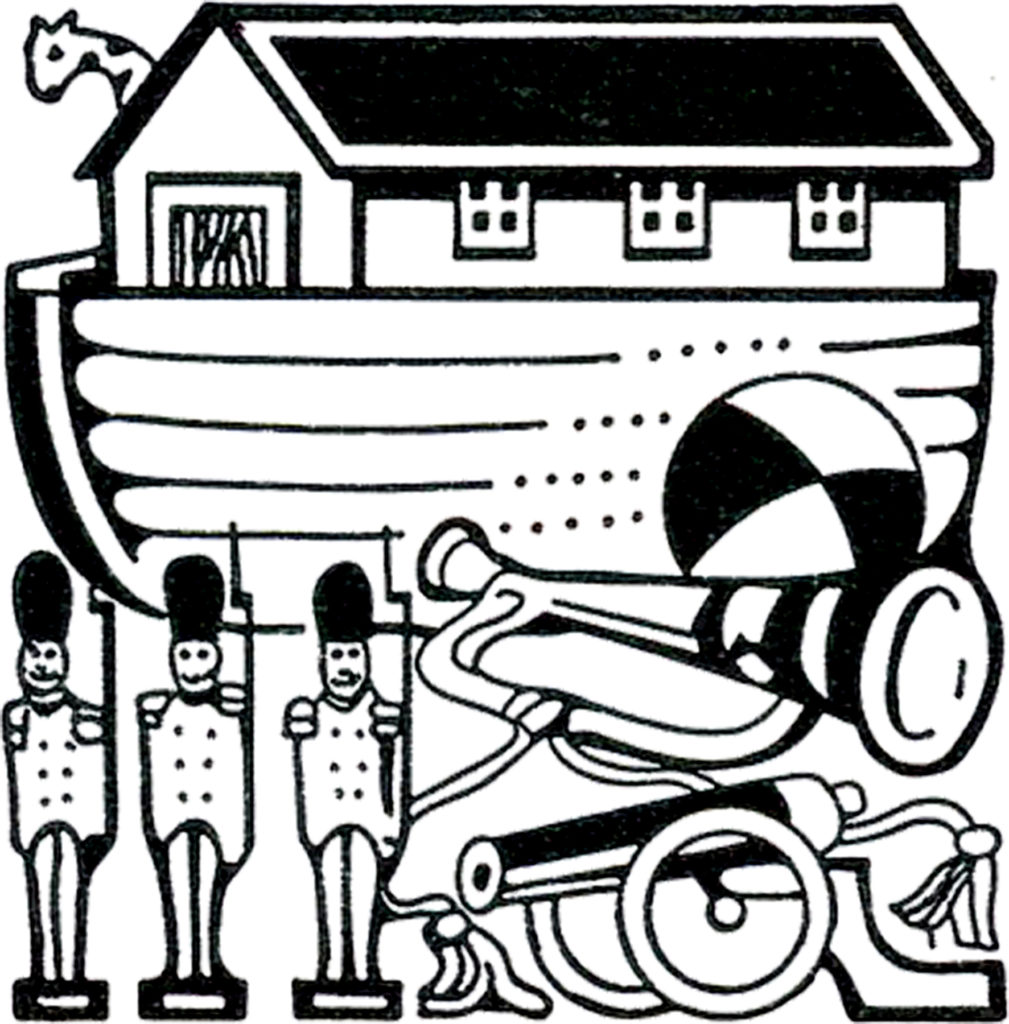 holiday toys noahs ark soldiers horn cannon ball clip art