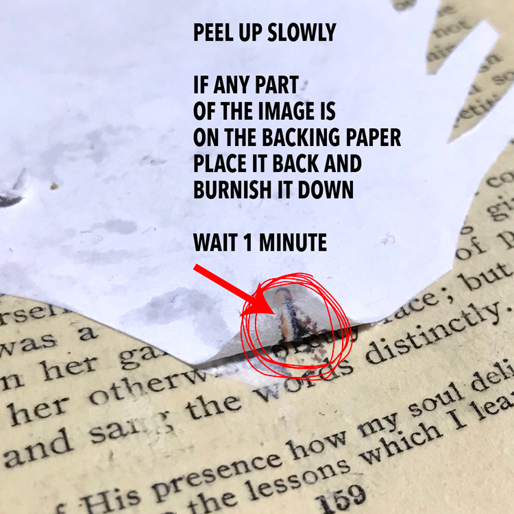 Do not Peel if You See the Image on the Backing Paper