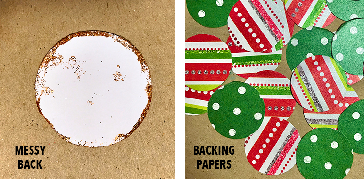 Backing Papers for Messy Backs