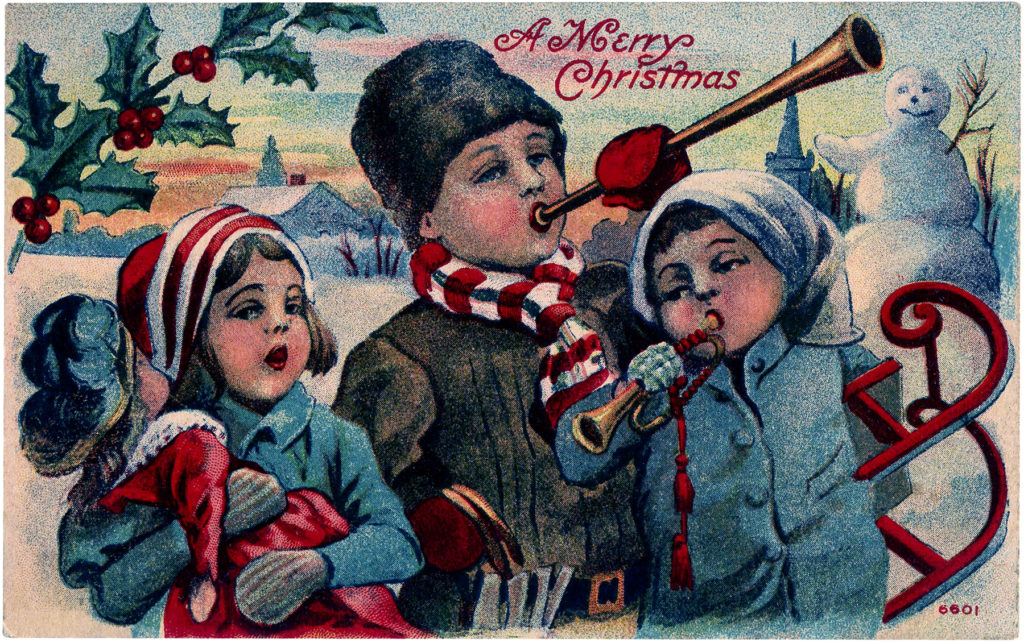 Christmas children music horn image