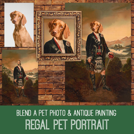 PSE Tutorial Regal Pet Portrait