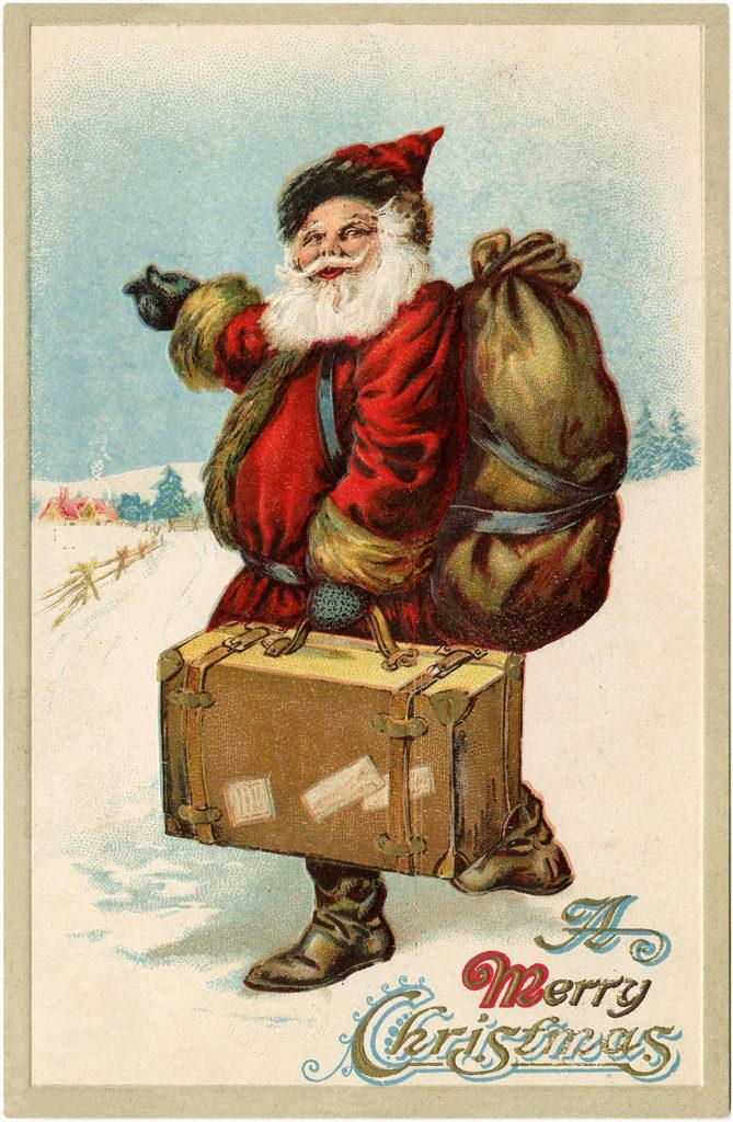 Santa Suitcase Image