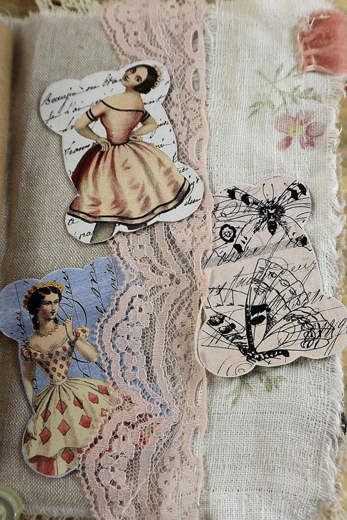 Seamstress Junk Journal Page Layout