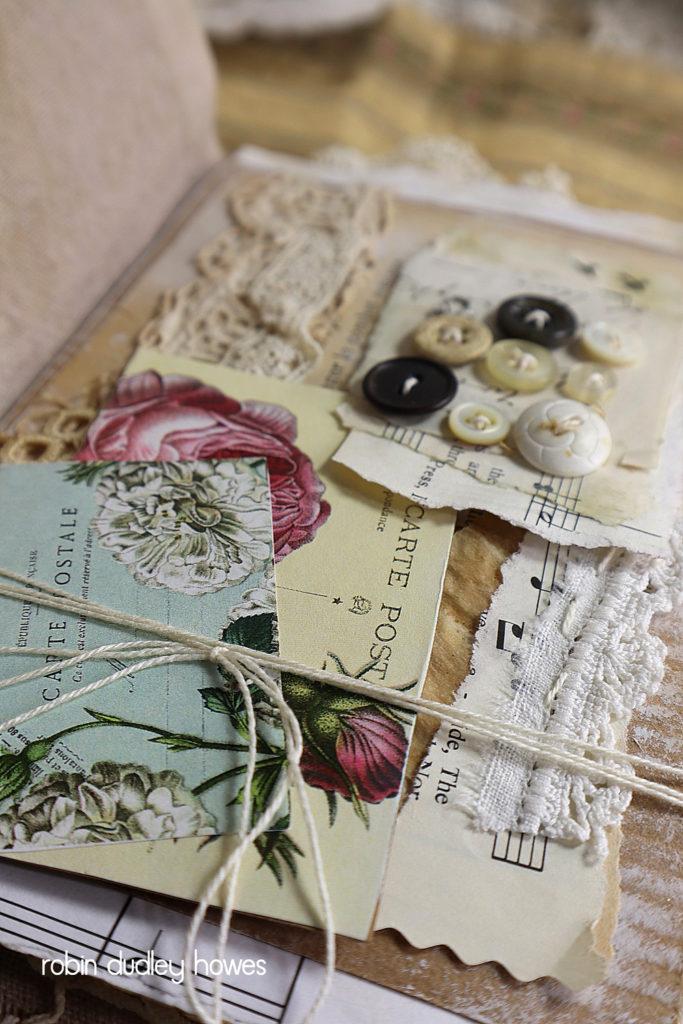 Vintage Art Journal Sewing theme