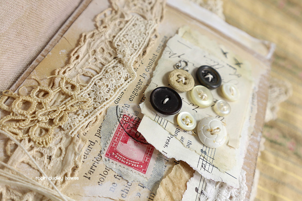 Vintage Journal with Buttons