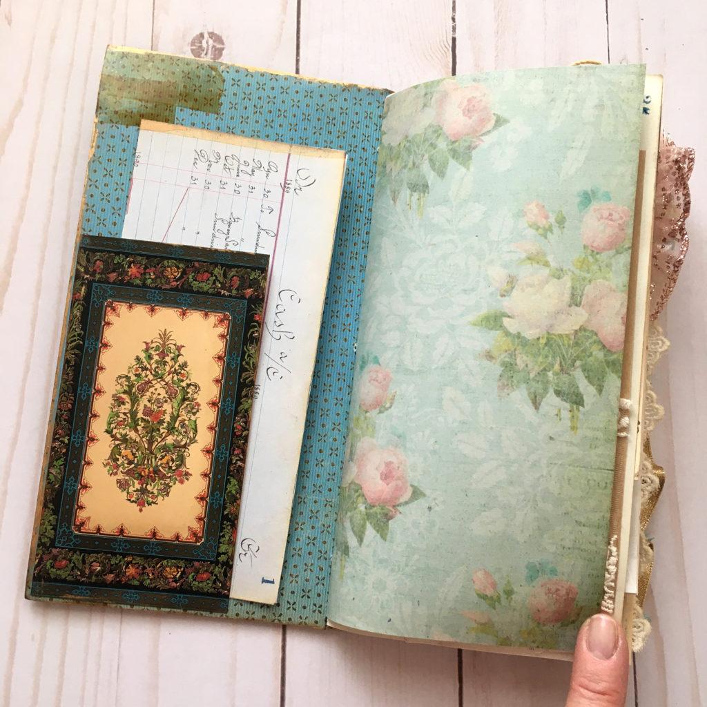 Floral Wallpaper Art Journal