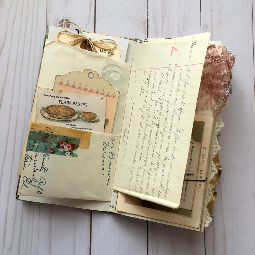 Junk Journal Pastry Page