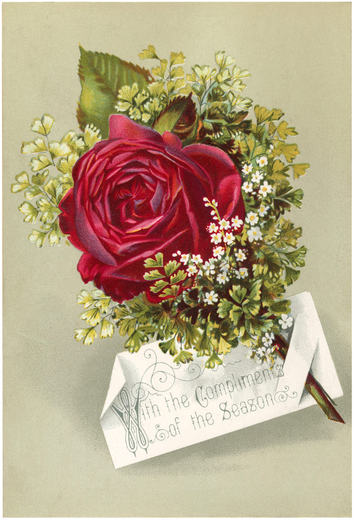 Victorian Rose Nosegay Image