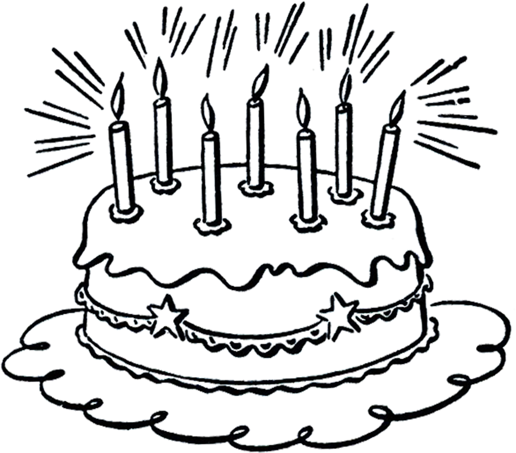 Wondrous 6 Birthday Cake Images The Graphics Fairy Funny Birthday Cards Online Alyptdamsfinfo
