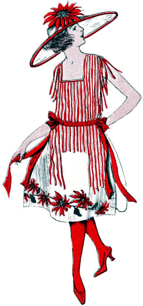 vintage Christmas fashion clipart